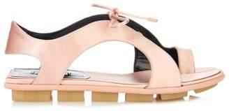Balenciaga Rubber-soled satin sandals
