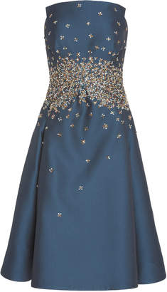 Zac Posen Gauffre Multi Sequin Strapless Dress
