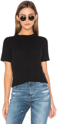 Autumn Cashmere Ribbed Boxy Tee $242 thestylecure.com