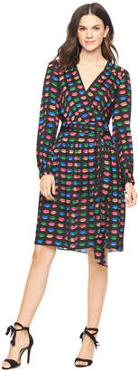 Milly EXCLUSIVE KISS PRINT KATY WRAP DRESS