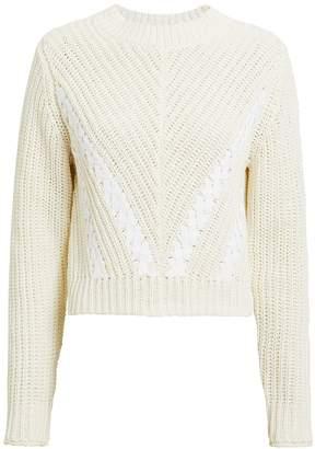 3.1 Phillip Lim Lace-Up Detail Crop Sweater