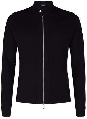 Emporio Armani Wool Zip-Up Sweater