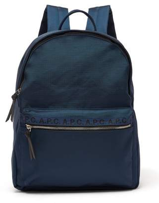 A.P.C. Marc Ribstop Backback - Mens - Navy