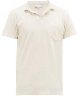 Orlebar Brown Cotton Terry Polo Shirt - Mens - White