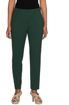 Susan Graver Chelsea Stretch Comfort Waist Zip Front Ankle Pants