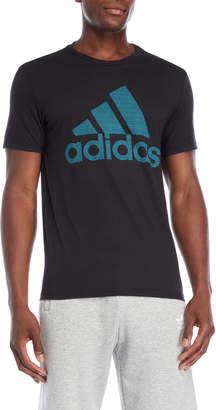 adidas Black Raised Logo Tee