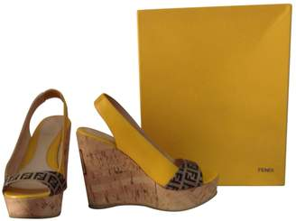 Fendi Yellow Patent leather Heels