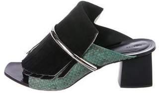 Proenza Schouler Python Slide Sandals
