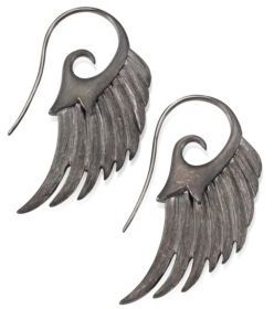 Noor Fares Fly Me To The Moon Sterling Silver Wing Earrings