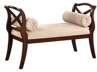 Furniture of America Venetian Worldwide Philipsberg II Bench, Dark Cherry