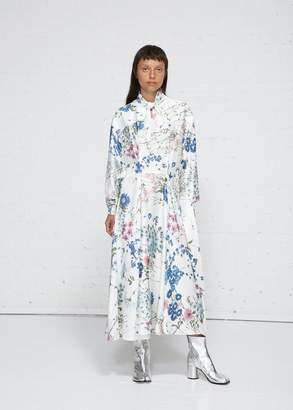 Off-White Floral Foulard Dress