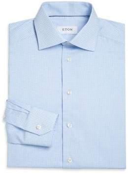 Eton Contemporary Fit Gingham Dress Shirt