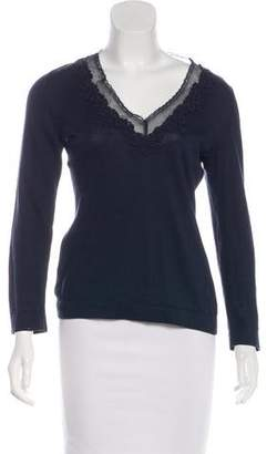 Philosophy di Alberta Ferretti Embroidered Long Sleeve Top