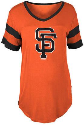 5th & Ocean Women's San Francisco Giants Sleeve Stripe Relax T-Shirt