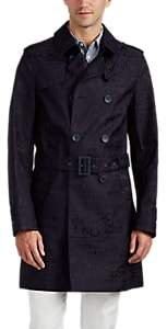 Herno Men's Anniversary-Patterned Cotton-Blend Trench Coat