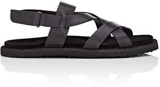 Buttero Men's Crisscross-Strap Leather Sandals