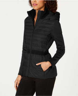 Calvin Klein Colorblocked Hooded Down Jacket