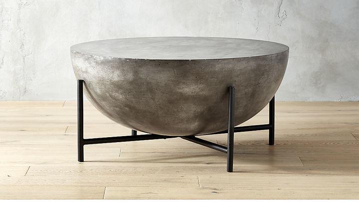 CB2Darbuka Black Coffee Table