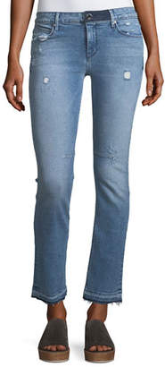 RtA Curtis Low-Rise Straight-Leg Jeans