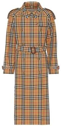 Burberry Checked cotton trench coat