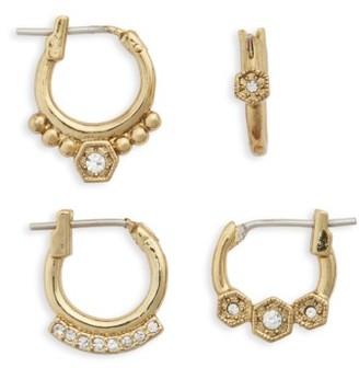 Women's Luv Aj Full Bloom Set Of 4 Hoop Earrings $80 thestylecure.com