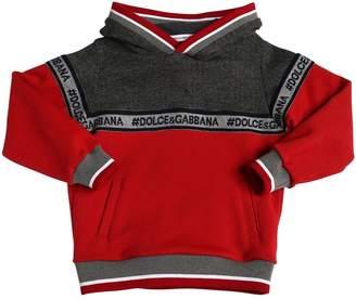 Dolce & Gabbana Logo Patchwork Cotton Sweatshirt Hoodie