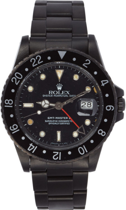 Black Limited Edition Matte Black Limited Edition Rolex GMT Master II Watch