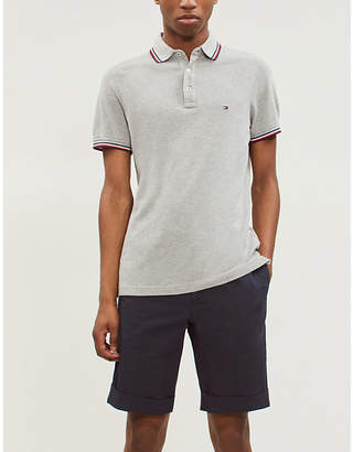 Tommy Hilfiger Brand-embroidered cotton-piqué polo shirt