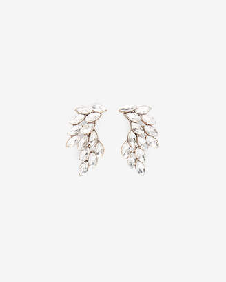 Express Navette Stone Crawler Post Back Earrings