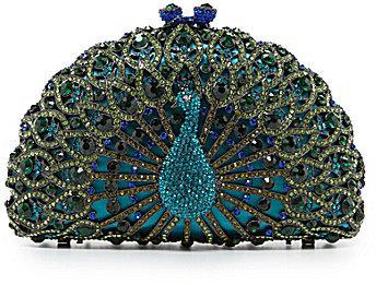 Kate Landry True Peacock Clutch