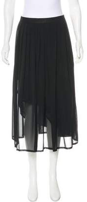 Cacharel Pleated Midi Skirt