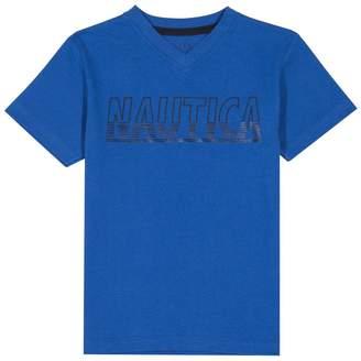 Nautica Little Boys' Short Sleeve Graphic V-Neck T-Shirt