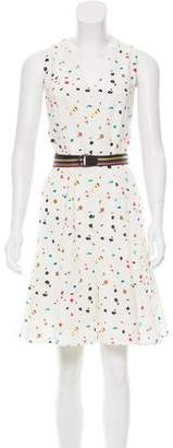 Akris Punto Abstract Print Knee-Length Dress