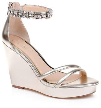 Badgley Mischka Kathleen Ankle Strap Wedge Sandal (Women)