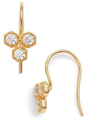 Nadri Triple Hexagon Earrings