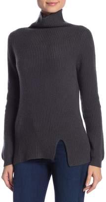 J CASHMERE Kier & Mock Neck Ribbed Sweater