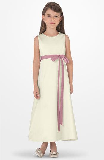 Us Angels Toddler Girl's Sleeveless Satin Dress