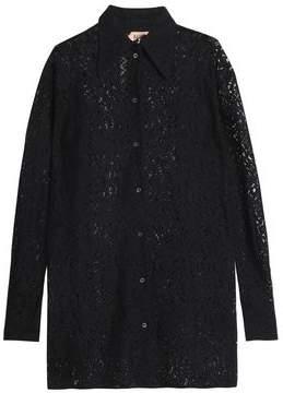 N°21 N° 21 Cotton-Blend Lace Shirt