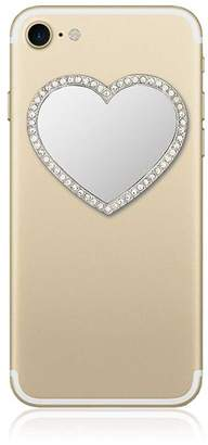 Idecoz Silver Heart w/ Crystals Phone Mirror