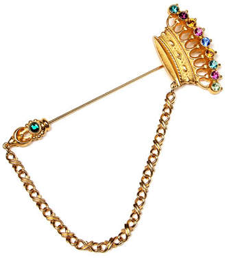 Ben-Amun Crystal Crown Stick Pin