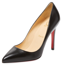 Christian Louboutin  Leather Pointed-Toe Pump
