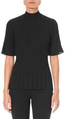 Carolina Herrera Rib-Knit Mockneck Sweater