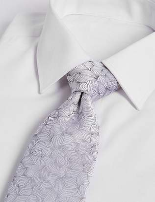 Marks and Spencer Pure Silk Leaf Motif Tie