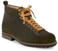 Paul Stuart Lace-Up Suede Hiker Boots