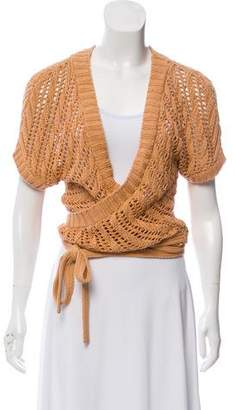 Theory Open Knit Crop Top