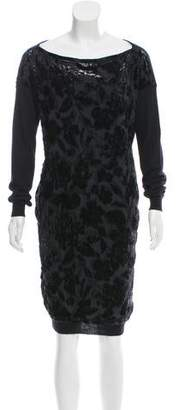 Lanvin Burnout Alpaca-Blend Dress