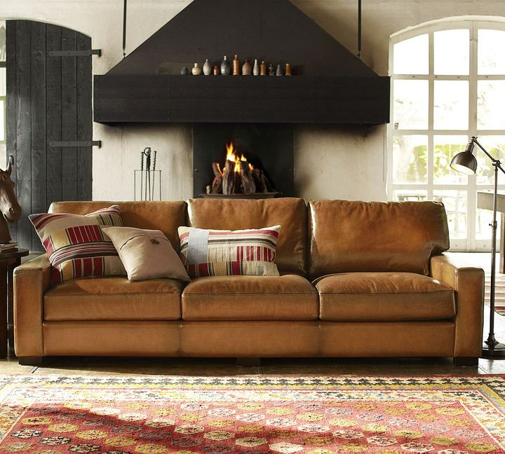 Pottery Barn Turner Leather Sofa