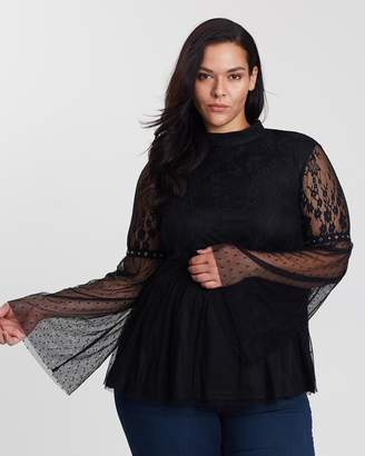Premium Cocktail Top with Lace Sleeves