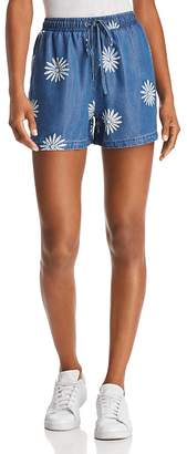 Splendid x Margherita Daisy Print Chambray Shorts