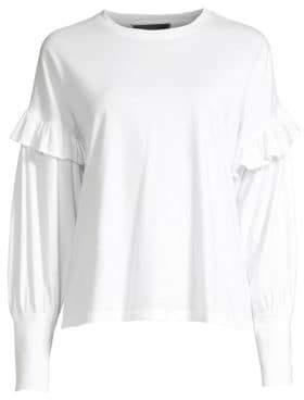Robert Rodriguez Women's Hanna Puff Sleeve Tee - White - Size Large